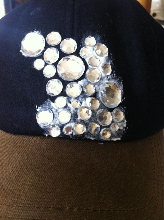 DIY Jeweled Baseball Cap2