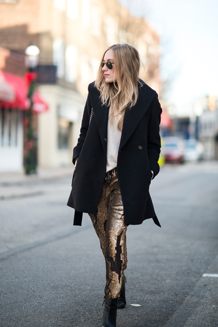 Gold Gilded Pants